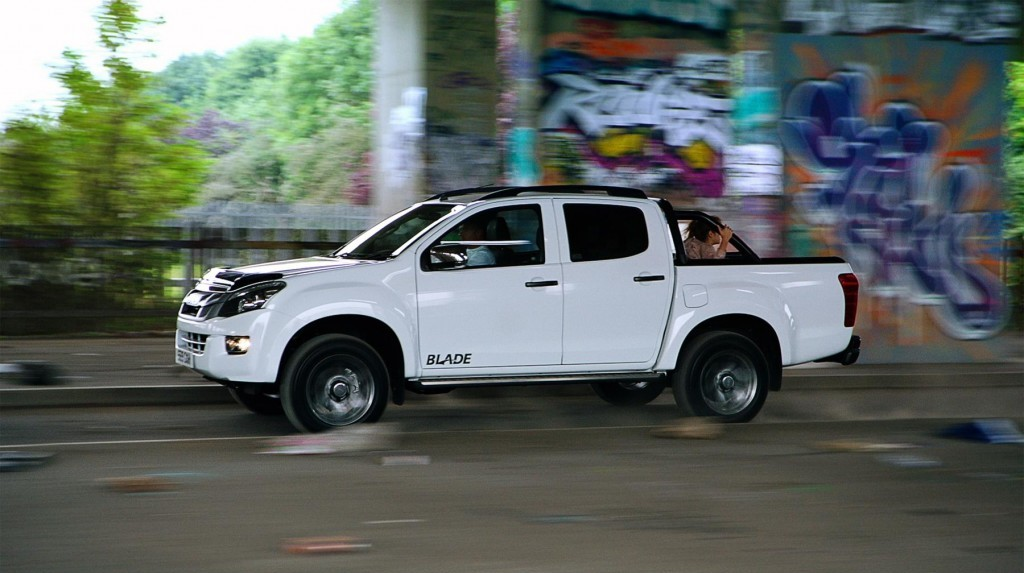 off the limited-edition Isuzu D-Max Blade's zombie dodging ability