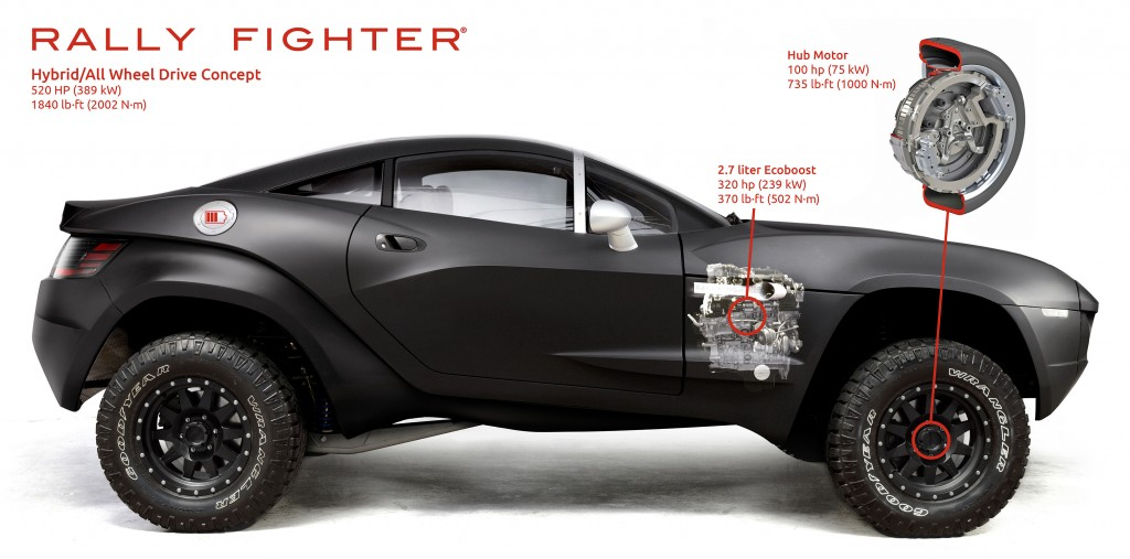 local motors rally fighter hybrid concept teased practical motoring. Black Bedroom Furniture Sets. Home Design Ideas