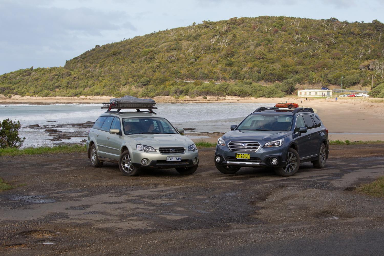 subaru outback 2005 vs 2015 2012 practical motoring. Black Bedroom Furniture Sets. Home Design Ideas