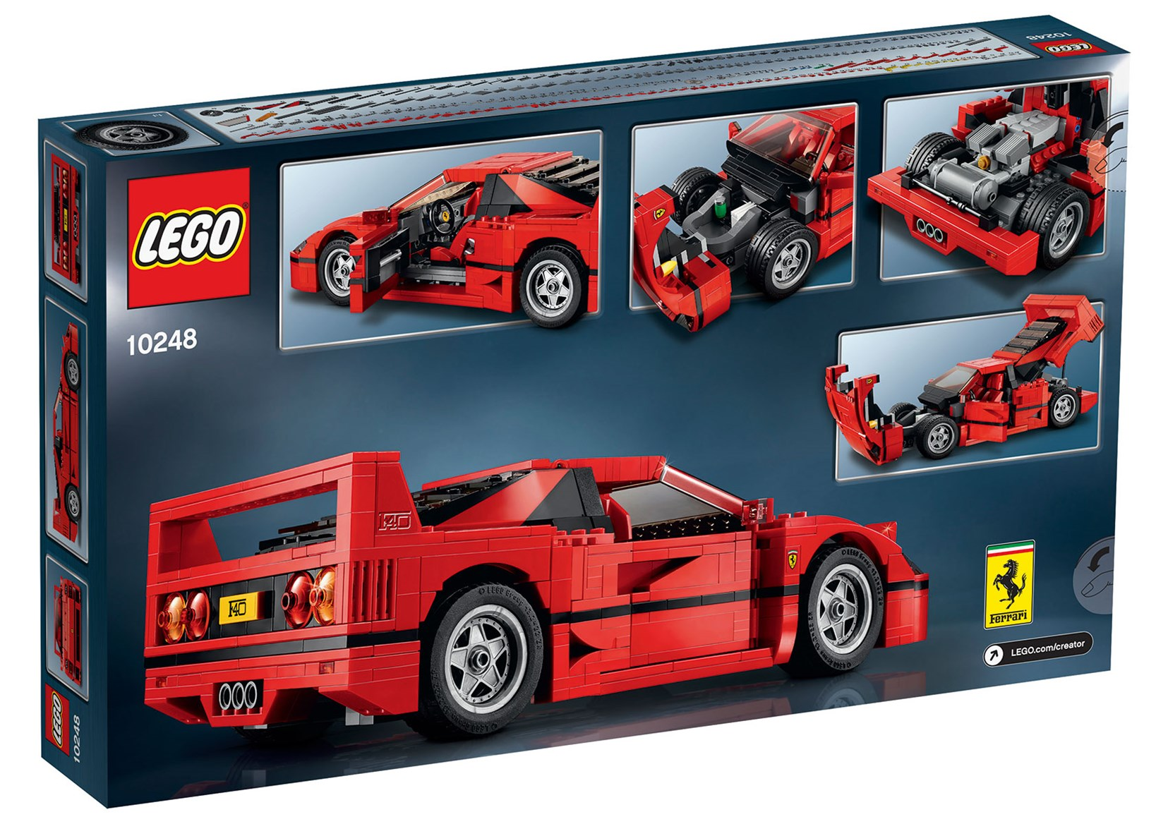 lego ferrari f40 revealed on sale august video practical motoring. Black Bedroom Furniture Sets. Home Design Ideas