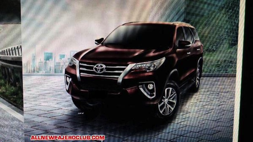 updated official interior and exterior pics of the 2016 toyota fortuner leaked online. Black Bedroom Furniture Sets. Home Design Ideas