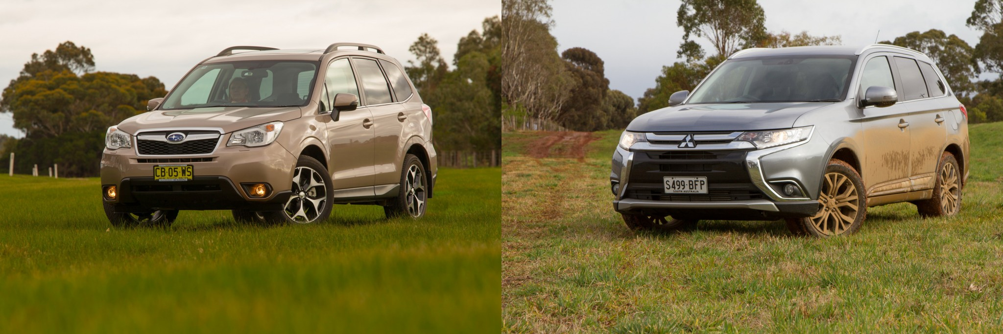 subaru forester vs mitsubishi outlander which should outdoorsy people choose practical motoring. Black Bedroom Furniture Sets. Home Design Ideas