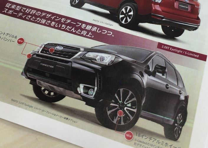Official refreshed 2017 Subaru Forester images and details leaked ...