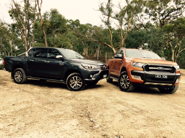 2016 ford ranger wildtrak vs 2016 toyota hilux sr5 practical motoring. Black Bedroom Furniture Sets. Home Design Ideas