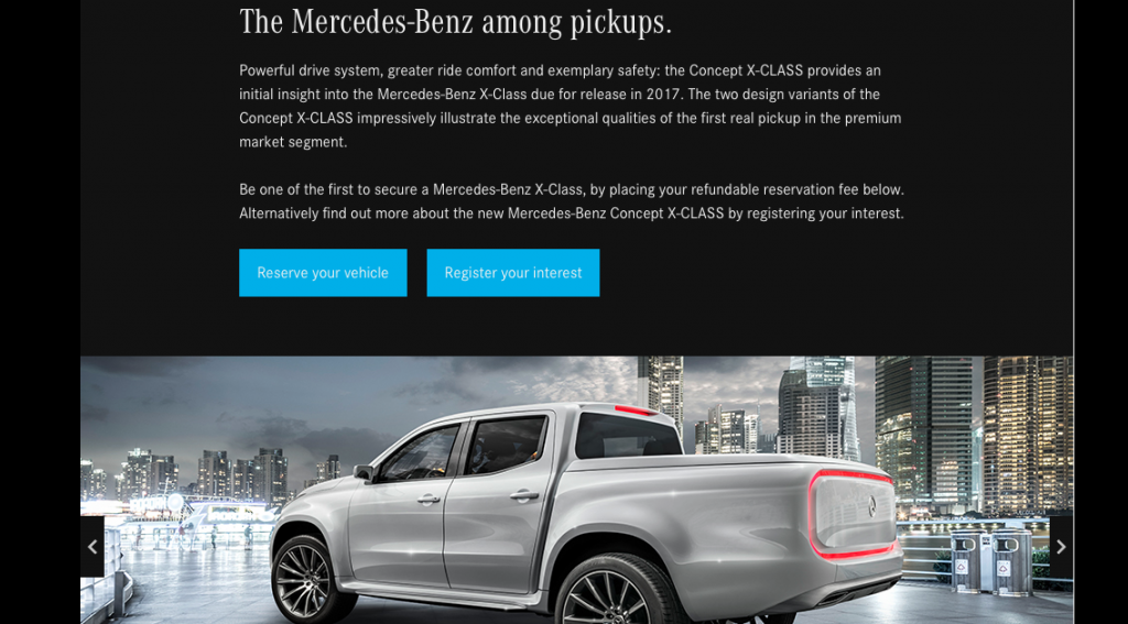 Mercedes benz x class order books open in the uk interest for Books mercedes benz