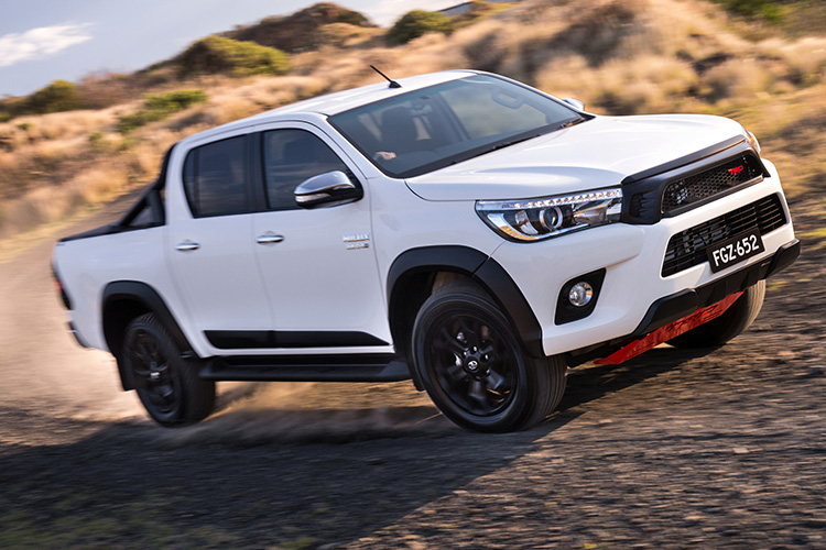 2017 toyota hilux sr5 with trd accessories available now from 58 990 practical motoring. Black Bedroom Furniture Sets. Home Design Ideas